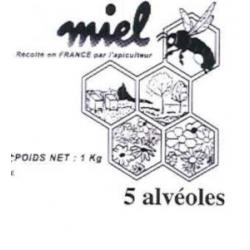 Pot plastique Miel 500 Gr...